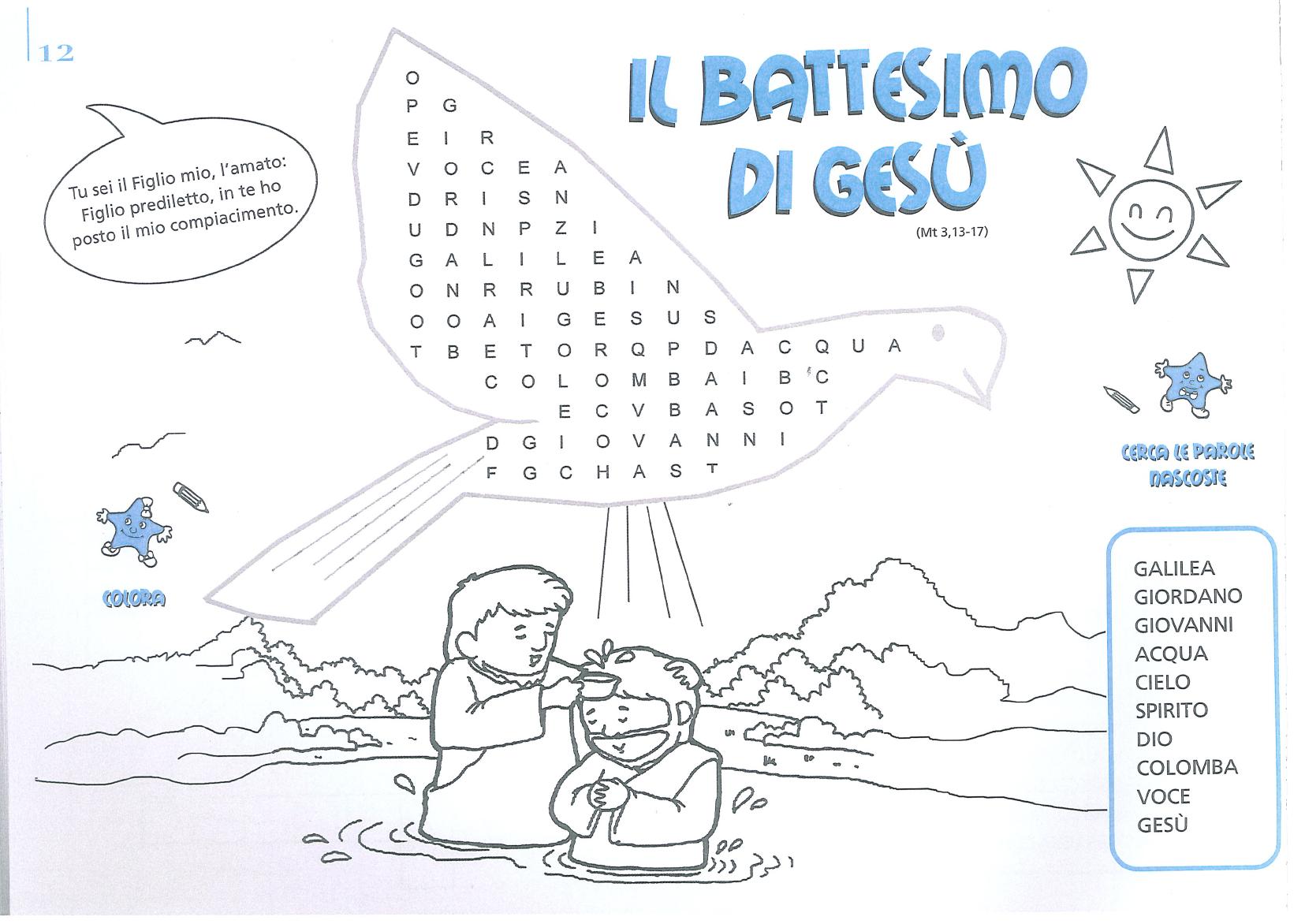 Battesimo di ges da colorare pictures to pin on pinterest for Crucipuzzle quaresima