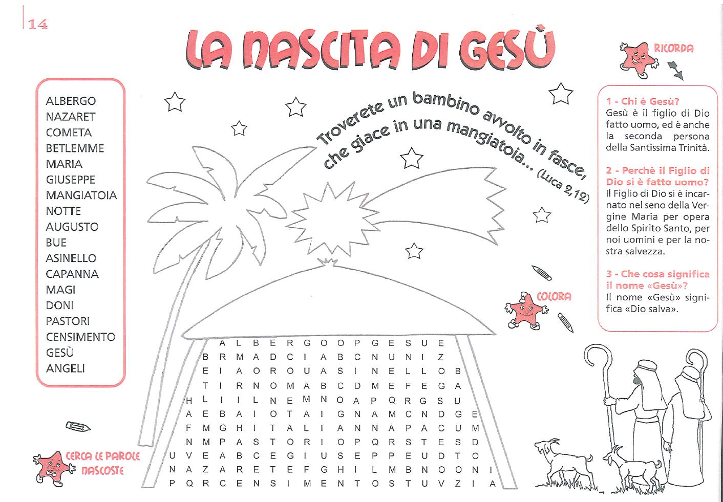Catechesi comunione primo anno 2015 2016 catewiki ovvero for Cruciverba per bambini catechismo